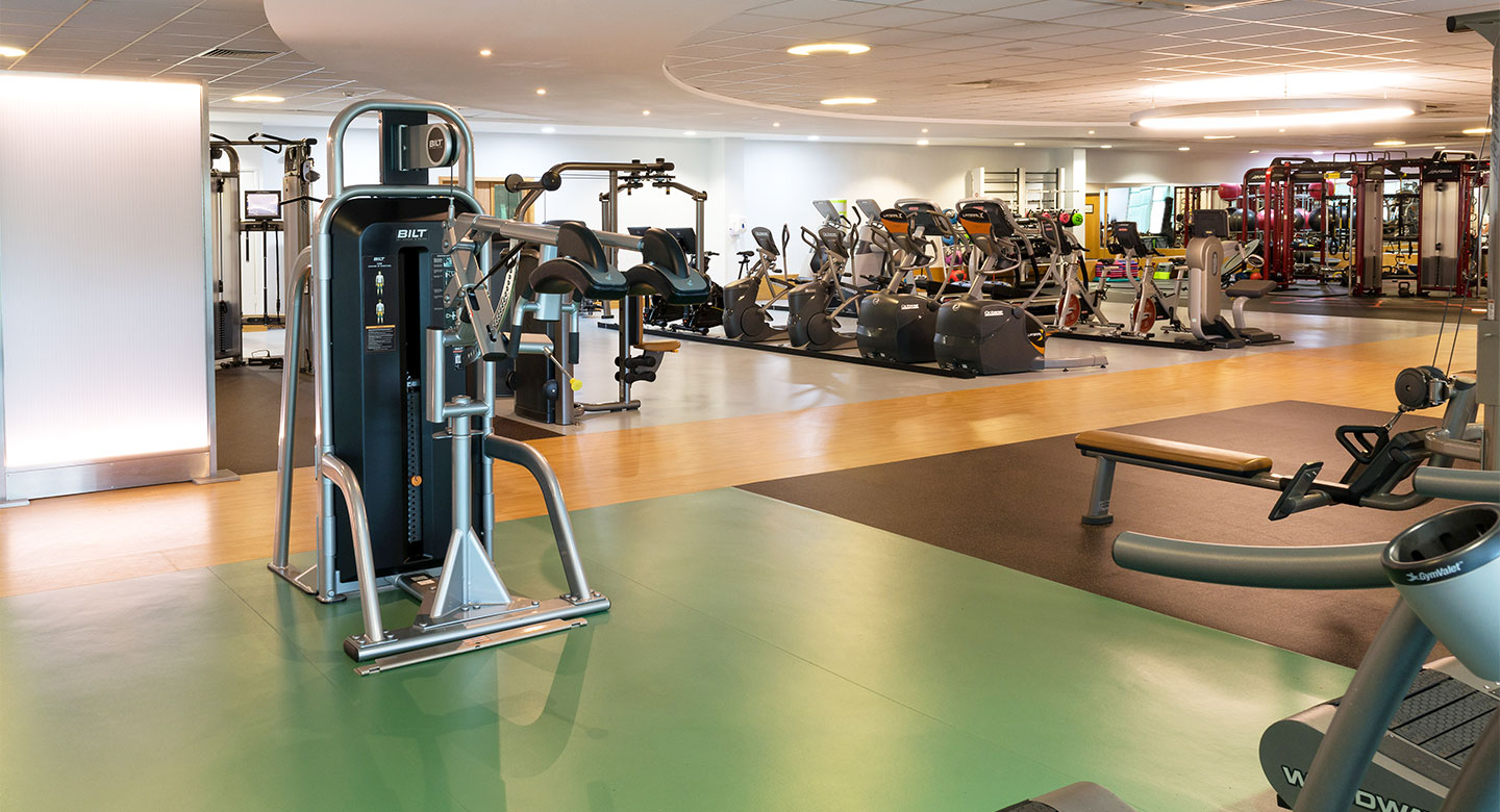 A spread of the state of the art gym equipment available at Cardiff