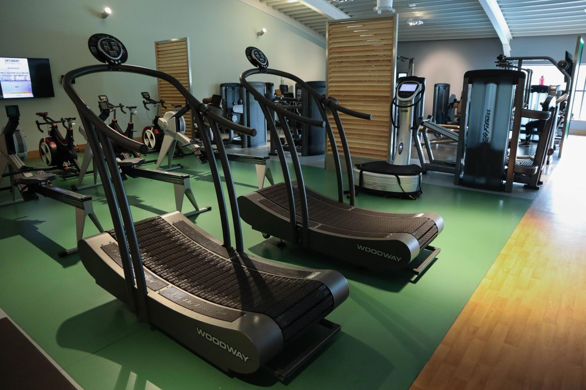 Woodway Curve treadmills in the club gym