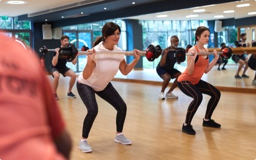 Image of a Bodypump class at David Lloyd Clubs