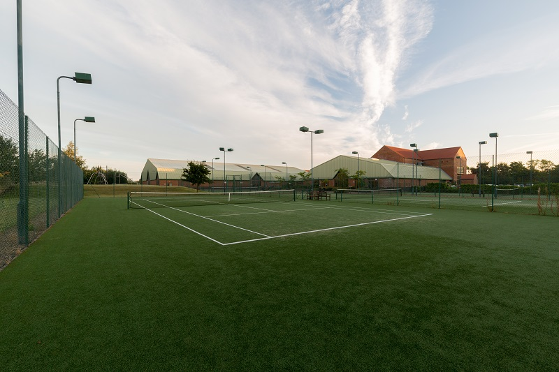 Tennis courts at Lincoln