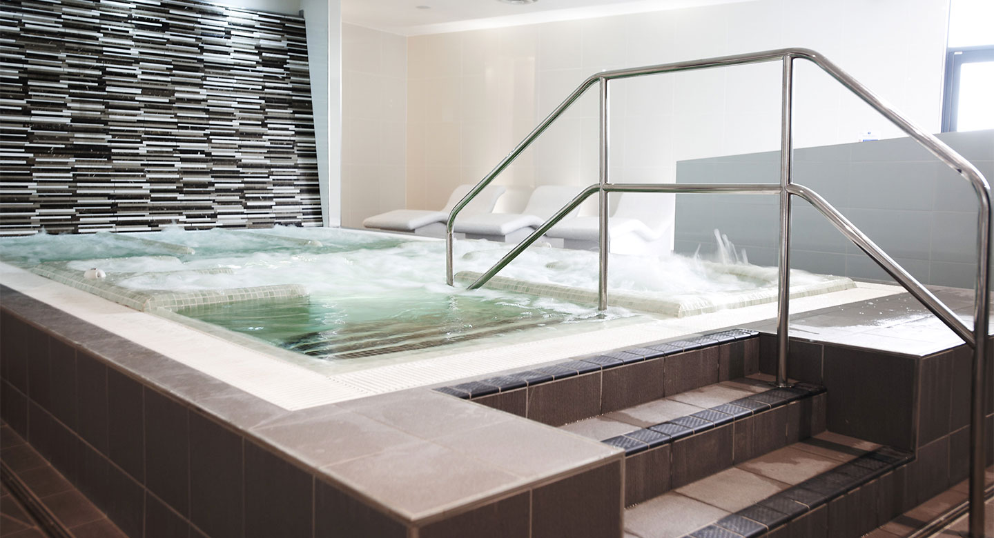 Elegant loungers in the Celsius Spa at Exeter