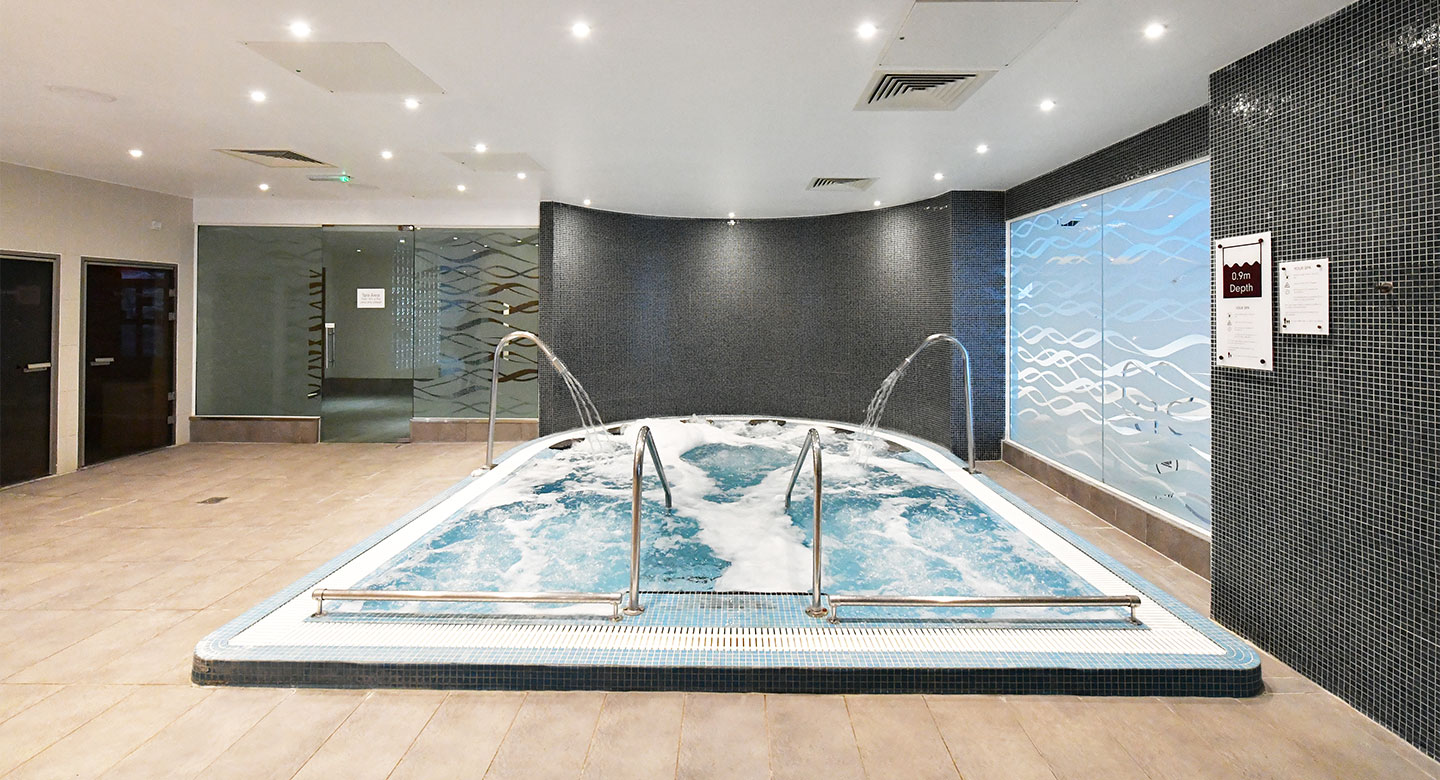 Elegant loungers in the spa at Swindon