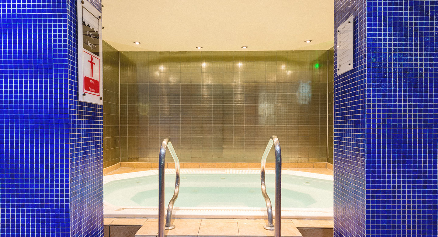 Elegant loungers in the spa