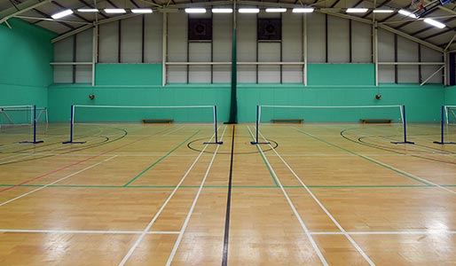 A badminton court