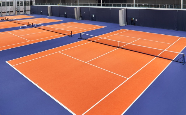 Tennis court at David Lloyd